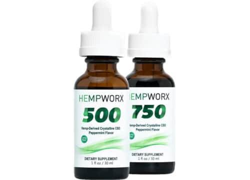 HempWorx 500mg THC Free CBD Oil
