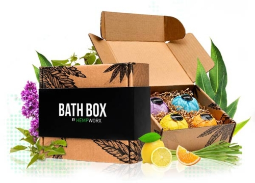 HempWorx Bath Bombs, CBD Bath Box