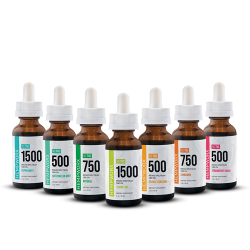 HempWorx Broad Spectrum 500mg CBD Oil