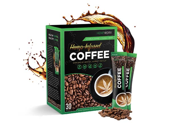 CBD Coffee, Hemp Infused, HempWorx
