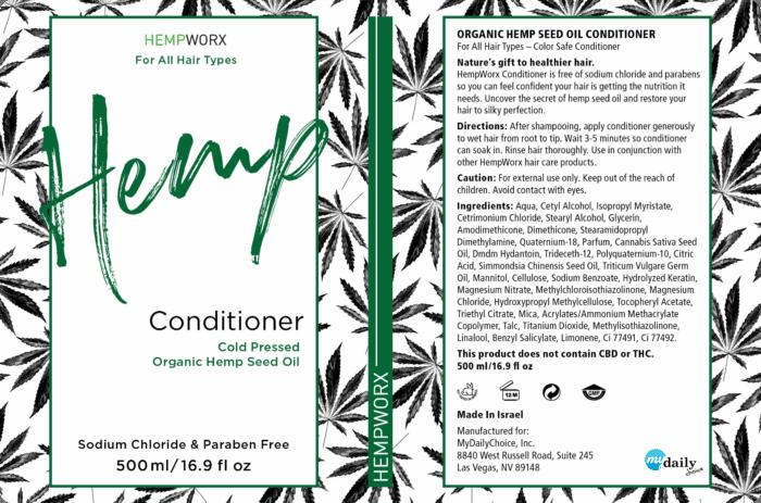 HempWorx Conditioner Product Label