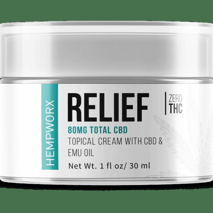 HempWorx Relief 30ml Topical CBD Cream
