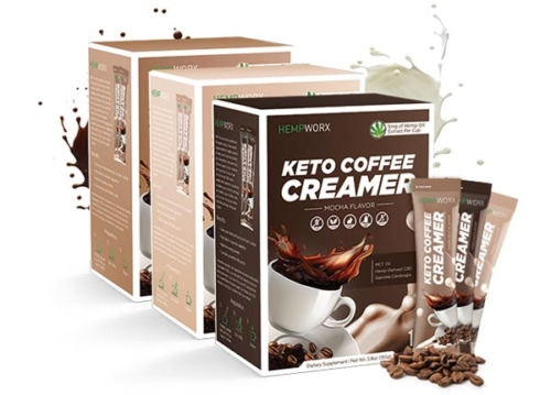 CBD Coffee Creamer, CBD Keto Creamer, HempWorx, hemp coffee creamer