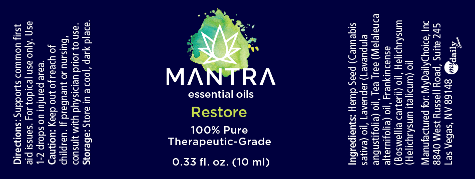 Mantra Restore Label