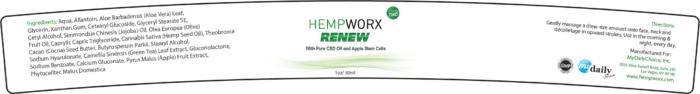 Renew Label hempWorx