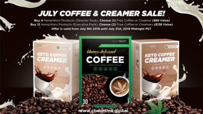 HempWorx Coffee Sale, Keto Creamers, July 2019