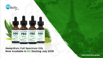 HempWorx UK, Europe, THC CBD, Full spectrum CBD oil
