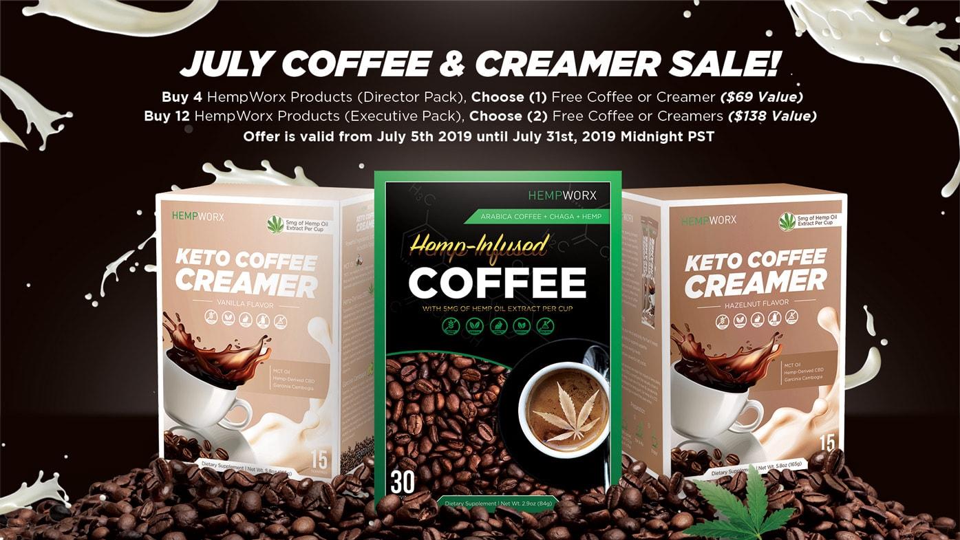 HempWorx Coffee, HempWorx Keto Creamers