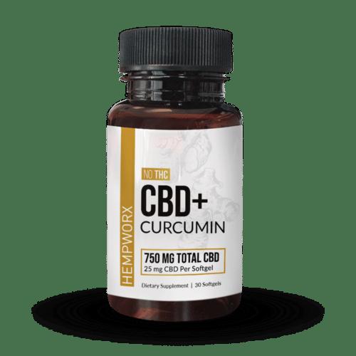 HempWorx CBD Curcumin Softgels