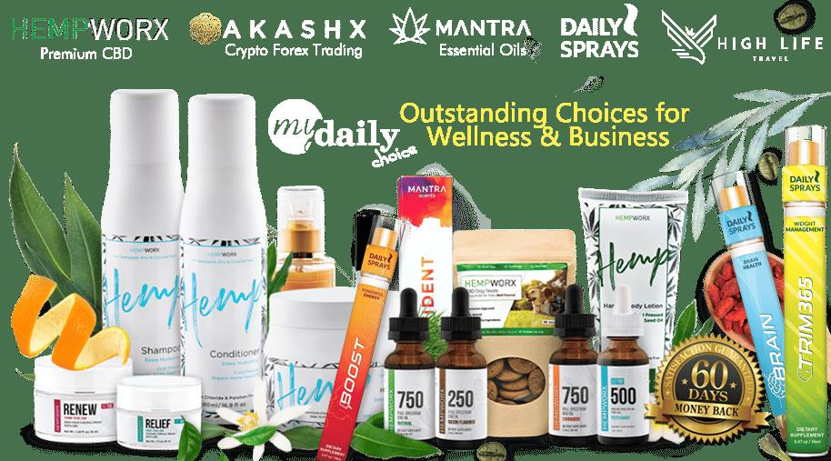 HempWorx MyDailyChoice Akashx Daily Sprays Mantra High Life
