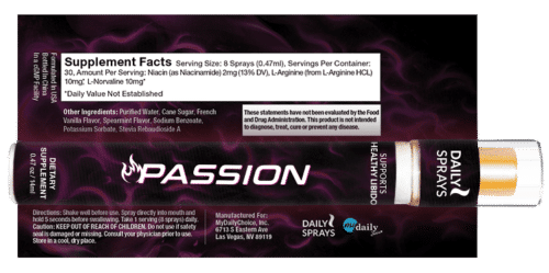 Passion Daily Spray Label, Ingredients